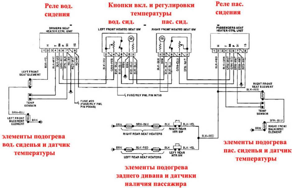 электрические схемы опель