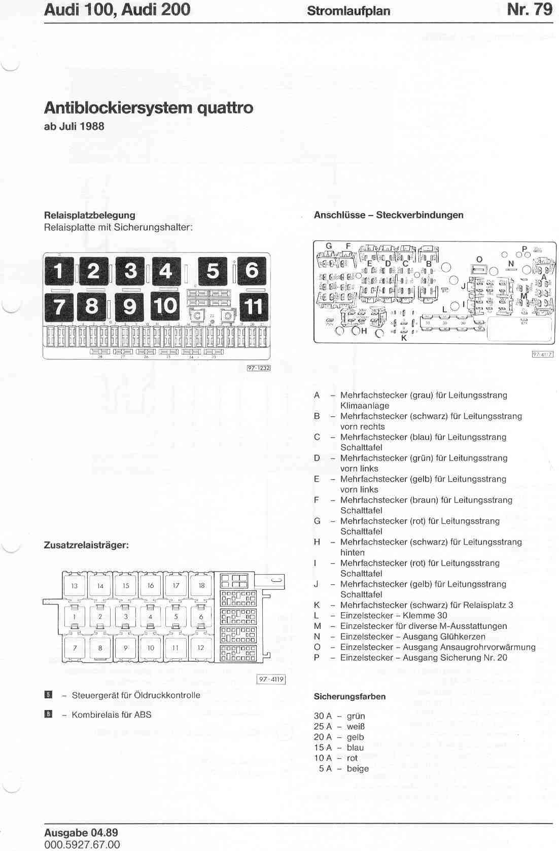audi 100 200 factory wiring diagrams rh sizov org audi 100 c4 wiring diagram Audi A4 Schematic