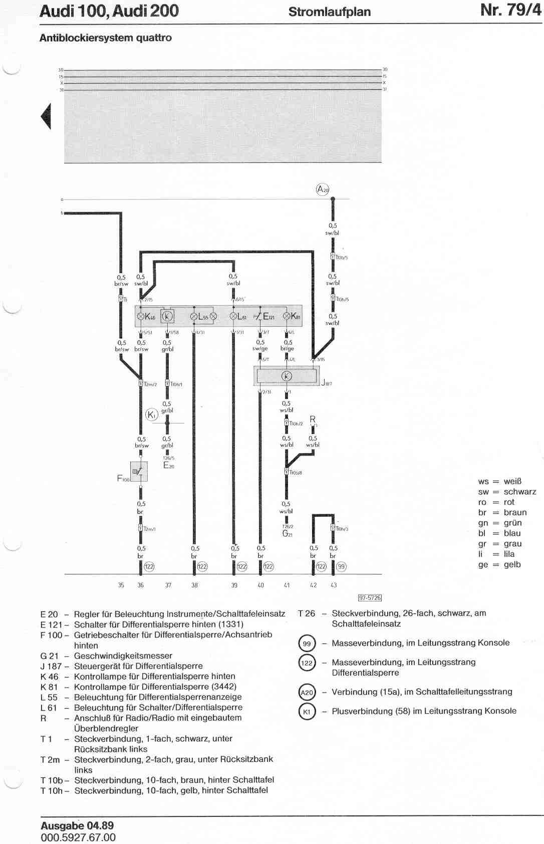 audi 100 200 factory wiring diagrams rh sizov org audi 100 c4 wiring diagram Audi A4 Wiring Diagram