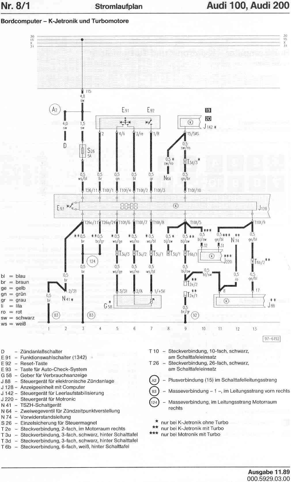 audi 100 200 factory wiring diagrams rh sizov org audi 100 c3 wiring diagram audi 100 2.5 tdi wiring diagrams