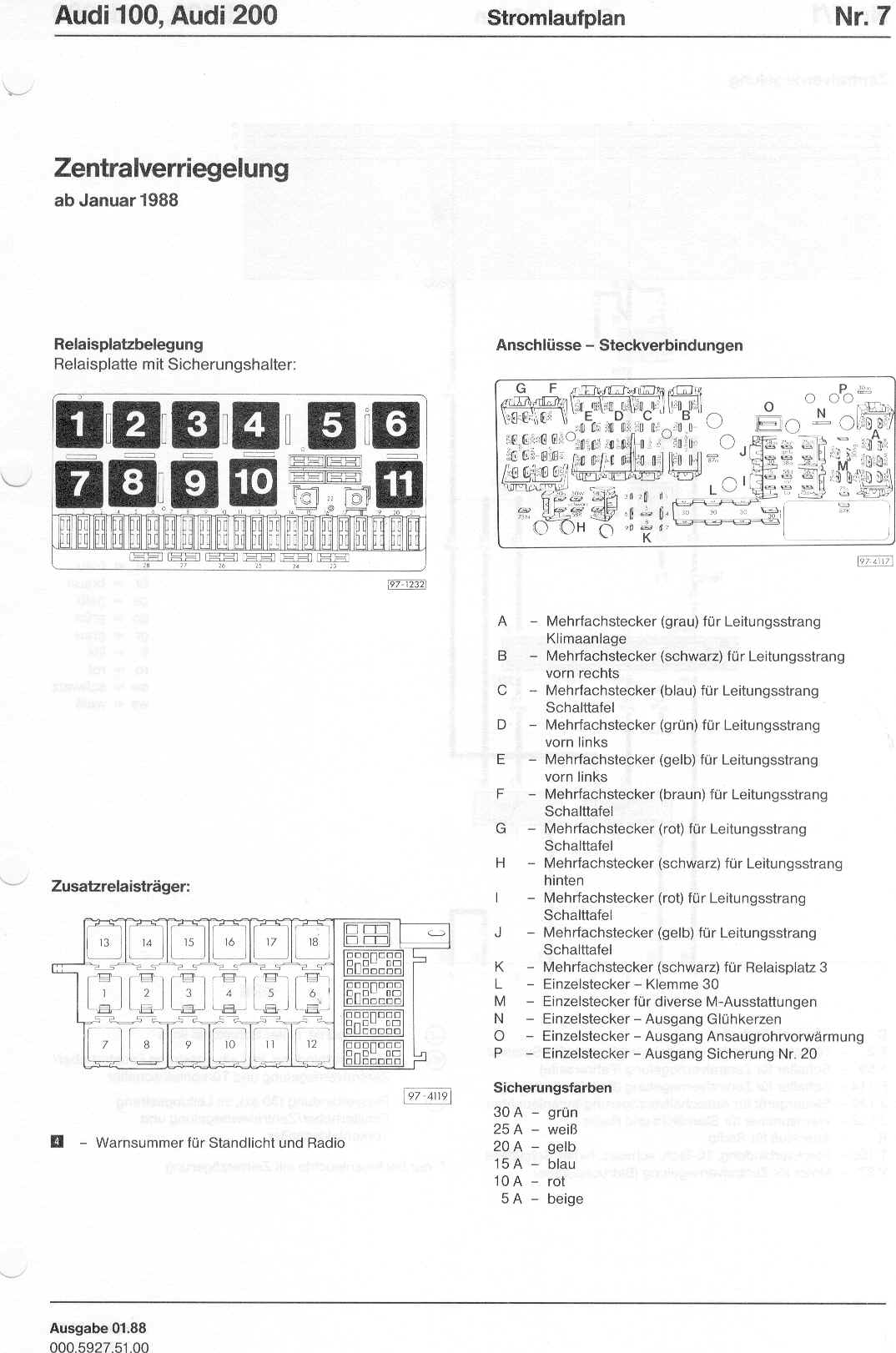 audi 100 200 factory wiring diagrams page 1 · page 2